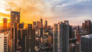 Melbourne's skyline from skyscraper