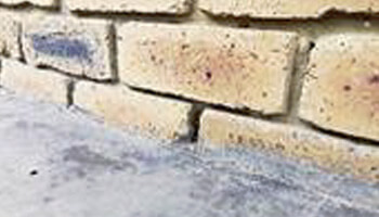 concrete covering weep hole