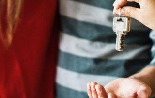 keys handed over to property investors