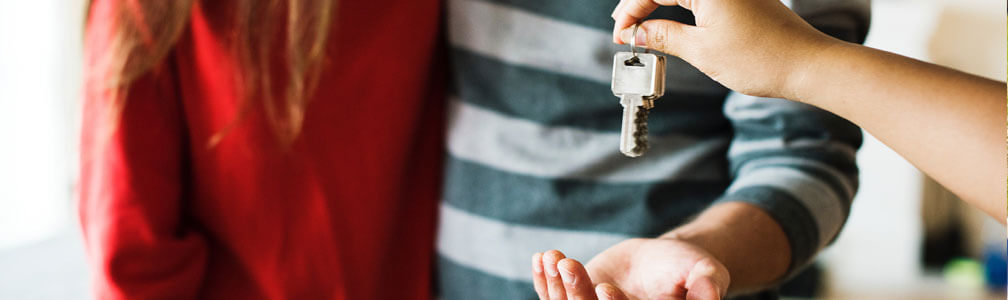 keys handed over to property investors