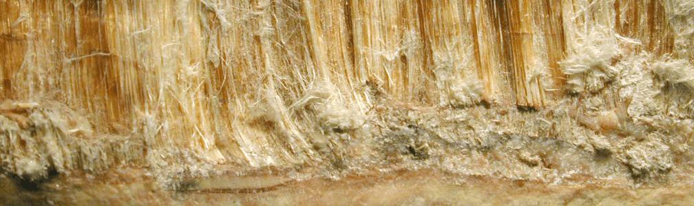 Close up of asbestos