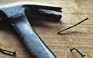hammer with broken nails