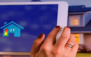 Smart home app on tablet