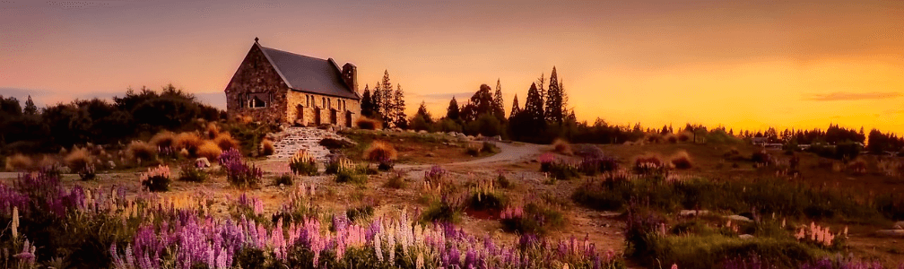 cottage in valley