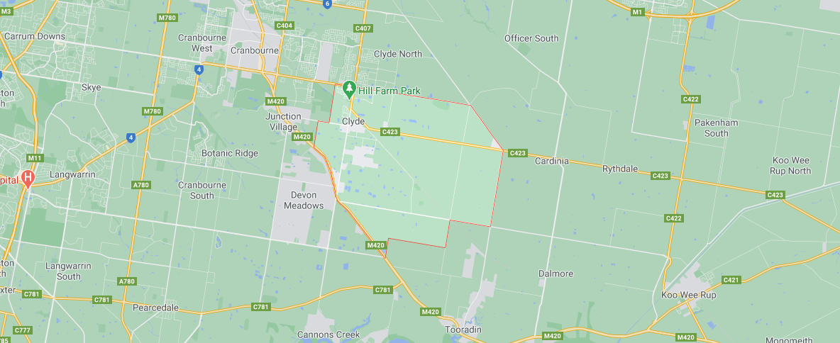 map of Clyde VIC