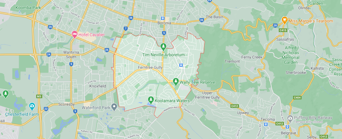 map of ferntree gully Pre purchase inspections