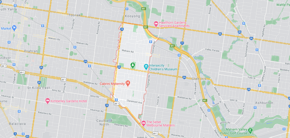 Malvern Pre purchase inspections map