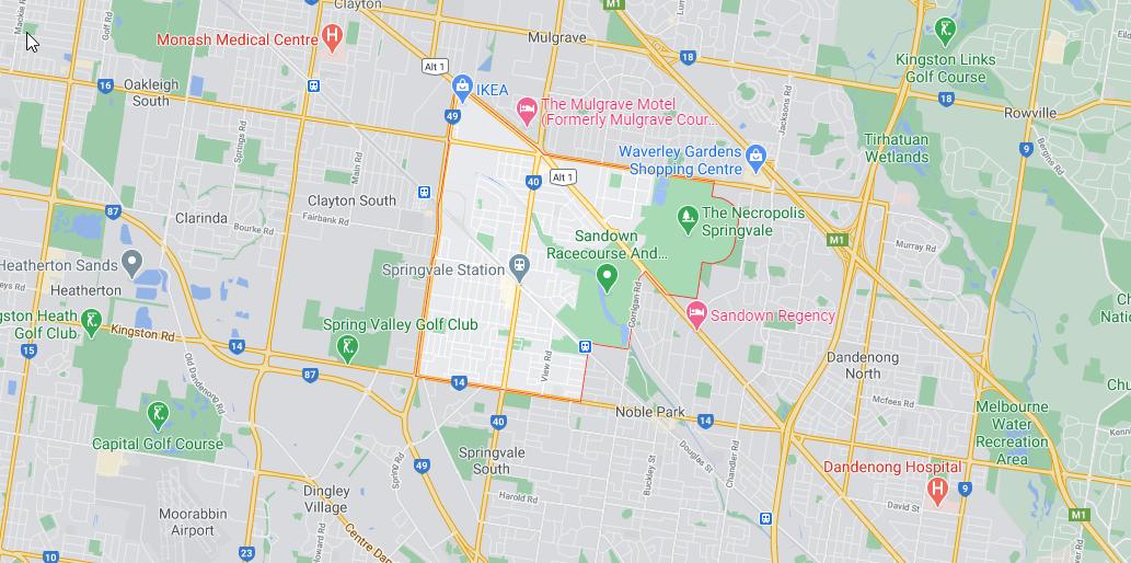 map of springvale