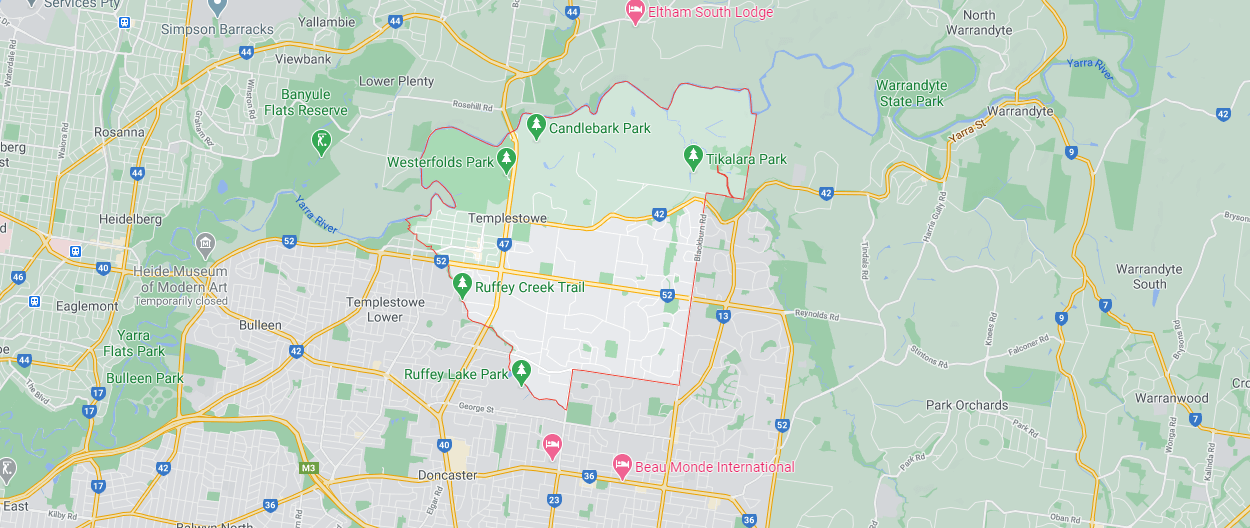 Templestowe Pre purchase inspections map